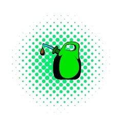 Oil canister comics icon vector