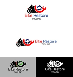 Motor cycles repair restore logo vector
