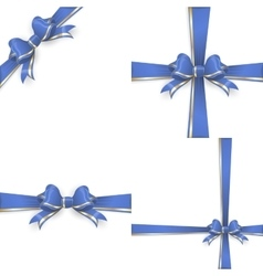 Blue gold bow templates eps 10 vector