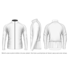 Long sleeve cycling jersey for men vector image