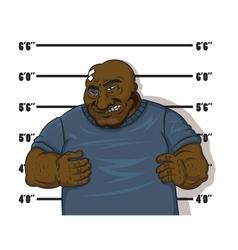 Afro-american prisoner vector