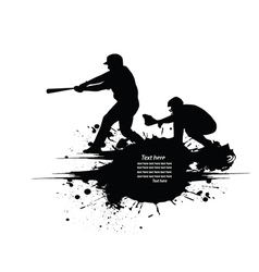 Baseball grunge background vector image vector image