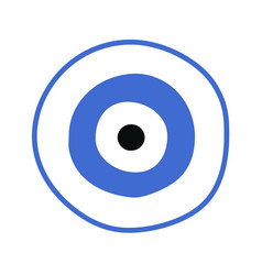 Blue greek evil eye - symbol of protection vector