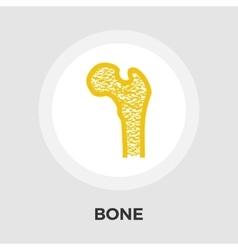 Bone flat icon vector image