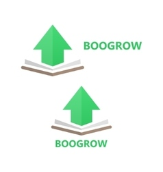 Book and up arrow logo concept vector
