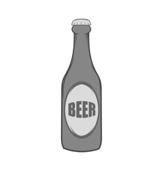 Bottle of beer icon black monochrome style vector image vector image