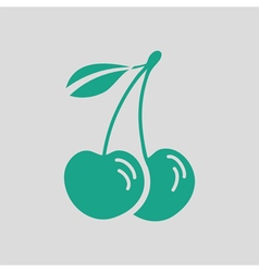 Cherry icon vector image vector image