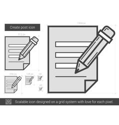 Create post line icon vector