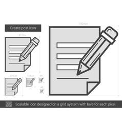 Create post line icon vector