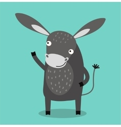 Cute cartoon donkey vector image vector image