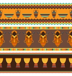 Ethnic african abstract geometric seamless fabric vector