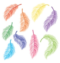 Feathers set2 vector