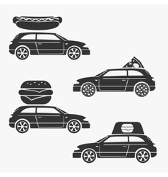 Food delivery symbol vector