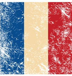 France retro flag vector image vector image