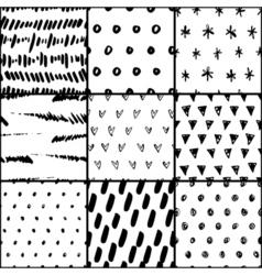 Handdrawn pattern set vector