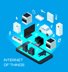 internet of things isometric design concept vector image