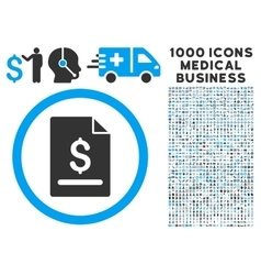 Invoice Page Icon with 1000 Medical Business vector image