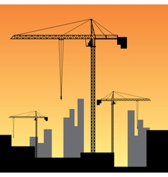 large construction site vector image