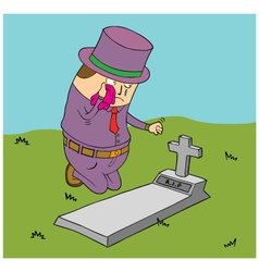 Man mourning vector