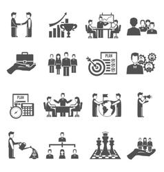 Management Icons Set vector image