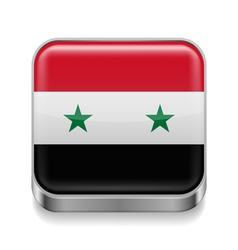 Metal icon of Syria vector image vector image