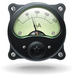 Realistic analog signal meter vector image