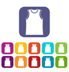singlet icons set vector image