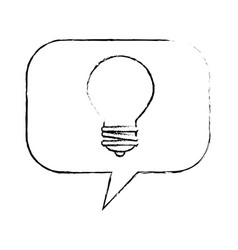 speech bubbles with bulb vector image