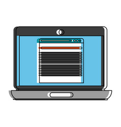 tab open on computer screen icon image vector image vector image