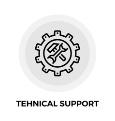 Technical support line icon vector