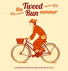 Tweed run poster vector image vector image