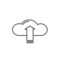upload to cloud icon vector image