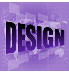 Words design on digital screen information vector