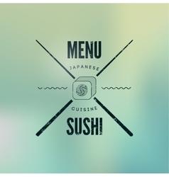 Restaurant vintage menu design for sushi vector