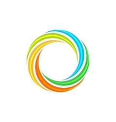 Isolated abstract colorful circular sun logo vector image