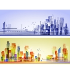 Abstract city landscape vector