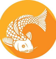 Koi Fish Icon vector image