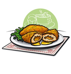 Chicken cutlets vector
