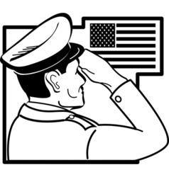 Patriotic usa service man vector
