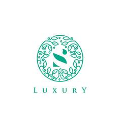 s letter logo luxurybeauty cosmetics logo vector image