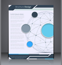 Layout brochure with sphere vector