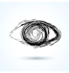 Abstract eye sketch vector
