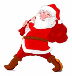 walking santa vector image
