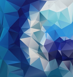 Blue diamond polygonal triangular pattern vector