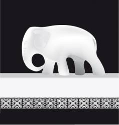 White elephant vector