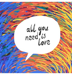 all you need colorful vector image