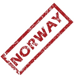 New norway rubber stamp vector