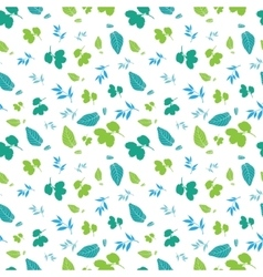 Blue green spring leaves silhouettes vector