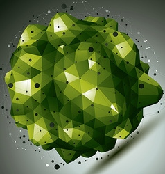 Complicated abstract bright 3d shape digital vector