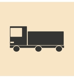 Flat in black and white mobile application truck vector
